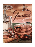 Gourmet Cover - October 1952 Regular Giclee Print by Henry Stahlhut