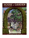 House & Garden Cover - July 1933 Regular Giclee Print by Pierre Brissaud
