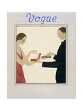 Vogue Cover - December 1923 Giclee Print by André E. Marty