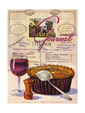 Gourmet Cover - October 1944 Regular Giclee Print by Henry Stahlhut