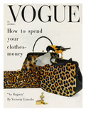 Vogue Cover - October 1958 - Animal Accessories Regular Giclee Print by Richard Rutledge