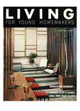 Living for Young Homemakers Cover - August 1953 Regular Giclee Print by Ernest Silva