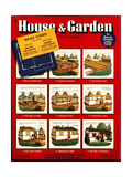 House & Garden Cover - February 1942 Regular Giclee Print by Robert Harrer