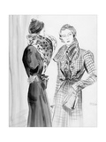 Vogue - December 1933 Giclee Print by René Bouét-Willaumez