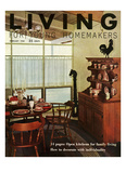 Living for Young Homemakers Cover - February 1958 Regular Giclee Print by Ernest Silva