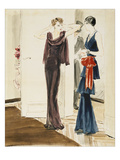 Vogue - September 1934 Regular Giclee Print by René Bouét-Willaumez