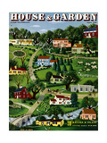 House & Garden Cover - August 1938 Giclee Print by  Bobri