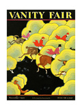Vanity Fair Cover - November 1927 Regular Giclee Print by Zoan Carnes