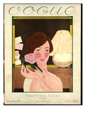 Vogue Cover - December 1924 Giclee Print by Georges Lepape