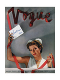 Vogue Cover - December 1940 Premium Giclee Print by John Rawlings
