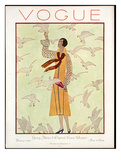 Vogue Cover - February 1926 Giclee Print by André E. Marty