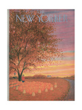 The New Yorker Cover - October 31, 1953 Giclee Print by Edna Eicke