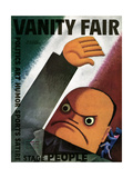 Vanity Fair Cover - October 1932 Giclee Print by Miguel Covarrubias