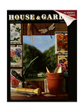 House & Garden Cover - January 1940 Regular Giclee Print by Pierre Roy