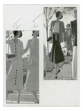 Vogue - April 1930 Regular Giclee Print by Jean Pagès