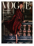 Vogue Cover - November 1955 Giclee Print by Henry Clarke