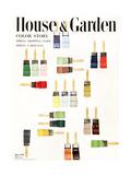 House & Garden Cover - March 1951 Giclee Print by Herbert Matter
