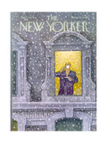 The New Yorker Cover - January 12, 1976 Giclee Print by Charles Saxon