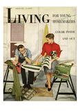 Living for Young Homemakers Cover - March 1951 Regular Giclee Print by Alan Fontaine