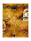 House & Garden Cover - April 1956 Giclee Print by Herbert Matter