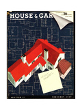 House & Garden Cover - February 1937 Regular Giclee Print by Robert Harrer