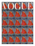 Vogue Cover - December 1954 Reproduction procédé giclée par Clifford Coffin
