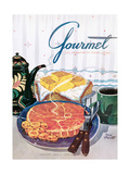 Gourmet Cover - January 1950 Regular Giclee Print by Henry Stahlhut