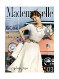 Mademoiselle Cover - April 1954 Regular Giclee Print by Herman Landshoff