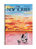 The New Yorker Cover - July 16, 1973 Regular Giclee Print by Ronald Searle