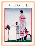 Vogue Cover - August 1925 Giclee Print by André E. Marty
