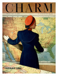 Charm Cover - February 1948 Reproduction proc&#233;d&#233; gicl&#233;e par Hal Reiff