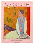 Vogue Cover - October 1925 Regular Giclee Print by Georges Lepape