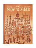 The New Yorker Cover - December 3, 1966 Gicléetryck på högkvalitetspapper av Jean-Michel Folon
