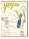 Vogue Cover - January 1935 Regular Giclee Print by R.S. Grafstrom