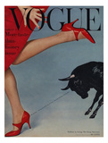 Vogue Cover - February 1958 Giclée-Druck von Richard Rutledge
