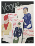 Vogue Cover - April 1932 Giclee Print by William Bolin
