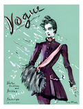 Vogue Cover - October 1936 Regular Giclee Print av Christian Berard