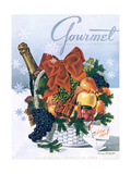 Gourmet Cover - December 1944 Regular Giclee Print by Henry Stahlhut