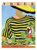 Vogue Cover - May 1934 - Glam Gardening Giclee Print by Alix Zeilinger