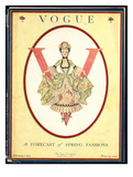Vogue Cover - February 1917 Regular Giclee Print by Frank X. Leyendecker