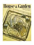 House & Garden Cover - August 1948 Giclee Print by Herbert Matter