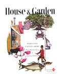 House & Garden Cover - March 1946 Giclee Print by Edna Eicke