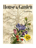 House & Garden Cover - January 1945 Giclee Print by Edna Eicke