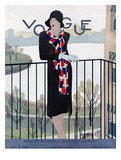 Vogue Cover - September 1928 Regular Giclee Print by Pierre Mourgue