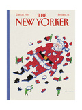 The New Yorker Cover - December 28, 1987 Regular Giclee Print by Lonni Sue Johnson