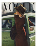Vogue Cover - September 1945 - On the Town Giclee Print by Constantin Joffé