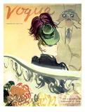 "Vogue Cover - September 1938 Regular Giclee Print par Carl ""Eric"" Erickson"
