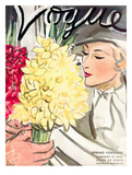 "Vogue Cover - January 1933 Regular Giclee Print by Carl ""Eric"" Erickson"