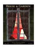 House & Garden Cover - May 1930 Giclee Print by André E. Marty