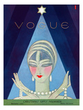 Vogue Cover - December 1927 Regular Giclee Print by Eduardo Garcia Benito